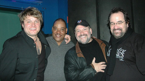 l-r: Rob Evan, Lawrence Clayton, Frank Wildhorn and Michael Lanning