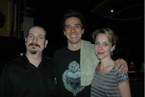Frank Fagnano (sound engineer), Roger Cohen (drummer) and Carter Calvert